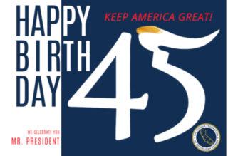 President Trump Birthday Postcard Project
