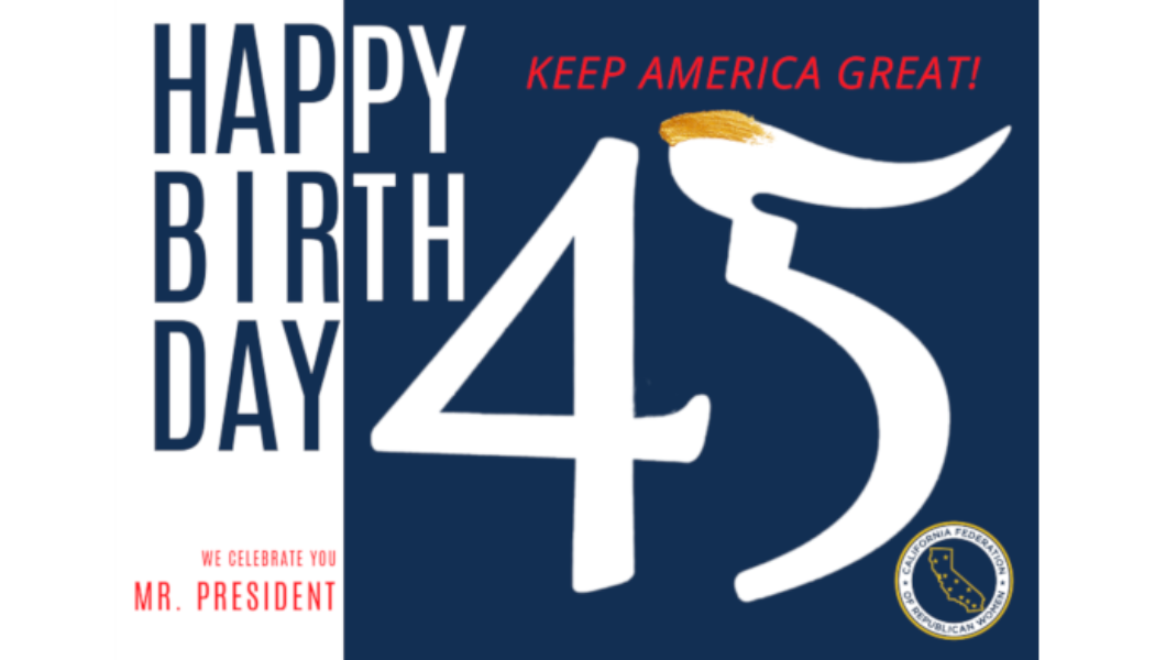 NFRW Announces CFRW's Birthday Card Project for Trump